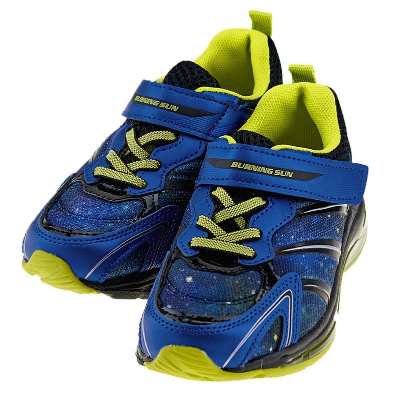 【2000円】キッズ 運動靴 男の子 バーニングサン BS211フラッシュ BU 16.0cm〜20.0cm 幅広3E