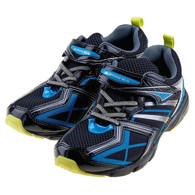 キッズ 運動靴 男の子 バーニングサン BS-210 BL 16.0cm〜18.0cm 普通幅2E