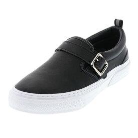 【ミニトートバッグプレゼント】スラック フットウェア SLACK FOOTWEAR メンズ スリッポン SOLOMONK SL1635-001 ブラック×ホワイト 26.0-28.0cm