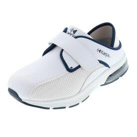 レディース スリッポン KAEPA ケイパ KPI1688AIR ホワイト×ネイビー 上履き ナース
