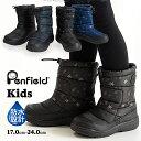 PenField ペンフィールド キッズブーツ スノーブーツ 男の子 女の子 子供靴 防水設計 軽量 ボア 防寒 ブラック ネイビ…