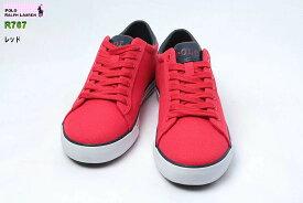 【送料無料!】ポロ ラルフローレン R767 HARVEY レッド 赤色 POLO RALPH LAUREN ハービー メンズ キャンバススニーカー シューズ 靴 サイズ 25.5-28.5cm