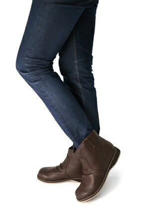 【新入荷】軽くてやわらかソフト素材コガシ加工シンプルなカジュアルデザイン約2.8cmローヒールアンクル丈ブーツ【na7658】【送料無料】レディース/ショート/ブーツ/ファスナー