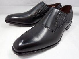 ユキコ ハナイ 本革 サイドエラスティック スリポンビジネスシューズ YH3308(ブラック) YUKIKO HANAI メンズ靴