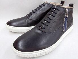 【19年秋発売 】 キャサリンハムネット 絶賛のサイドジップスニーカー HAMNETT 37042(ブラック)KATHARINE HAMNETTメンズ靴
