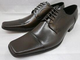 【日祝も即日発送可能】 キャサリンハムネット靴 ビジネスシューズストレートチップ 3947(ダークブラウン) KATHARINE HAMNETT メンズ 紳士靴