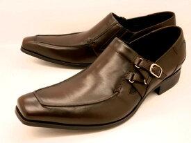 【日祝も即日発送】 キャサリンハムネット 靴ビジネスシューズサイドストラップスリッポン 3970(ダークブラウン)KATHARINE HAMNETT メンズ 紳士靴