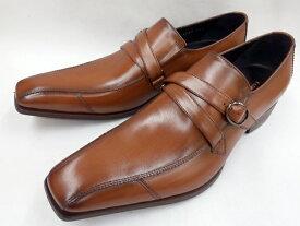 【大ヒット!後継品】 キャサリンハムネット 靴 モンクストラップ ビジネスシューズ 31591(ブラウン) KATHARINE HAMNETT メンズ 紳士靴