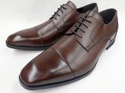 【激安!マッケイ式】Robepleine(ロベプラン)本革ビジネスシューズスタイリッシュストレートチップRP-3002(ダークブラウン)メンズ靴