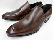 【激安!マッケイ式】Robepleine(ロベプラン)スタイリッシュスリポン本革ビジネスシューズRP-3003(ダークブラウン)メンズ靴