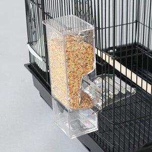 鳥用フードフィーダー 自動給餌器自動餌与え 透明容器キャット食器 出張旅行お留守番 小型動物 文鳥 鳥かご掛ける 食べ殻の防止餌やり 餌入れ 給餌機