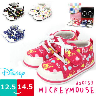 Baby shoes girl boy shoes Disney Disney Dimas Mickey Minnie Donald Velcro rubber thong Cap insert loop lightweight gifts □ ds0153 □