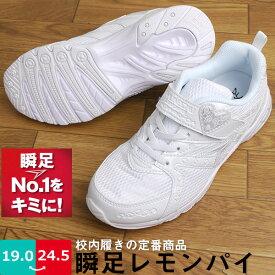【あす楽】【送料無料】瞬足 シュンソク レモンパイ スニーカー 運動靴 キッズ ジュニア アキレス 【LP512-142】 女の子 白 白スニーカー 運動靴 白い靴 白靴 内履き 運動靴 子供靴 まっしろ マジックテープ LEJ1420 LEJ2870 LEJ4270 □lp512□