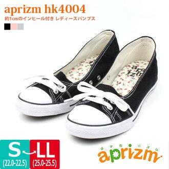 女鞋 1 厘米在她沙哑 aprizm 赫斯基 aprismhimo 型垫和花卉打印软唯一鞋垫灵活 □ hk4004 □