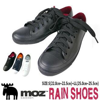 <动画有,像>moz sweden伯劳雨鞋女士喜欢漏洞运动鞋一样的完全的防水全部橡胶防滑屈曲性通学通勤雨靴□mz8418□