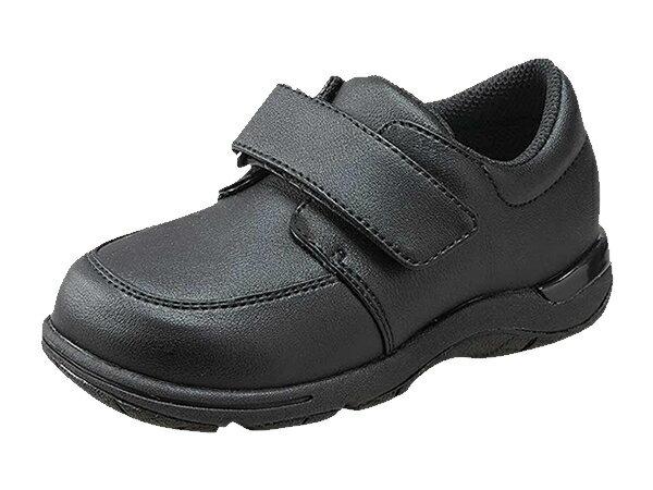 ムーンスター キャロット CR C2087 ブラック フォーマルシューズ 21.5cm〜24.5cm 子供靴 マジックタイプ