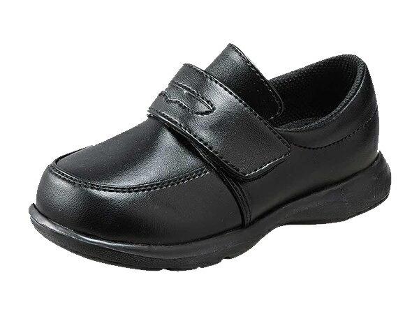 ムーンスター キャロット CR C2092 ブラック フォーマルシューズ 子供靴 ローファーデザインタイプ