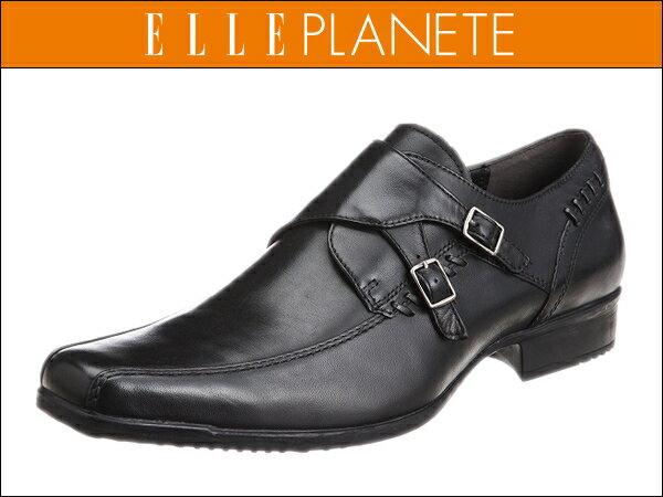 マドラス エル プラネット PT5035 ブラック ELLE PLANETE ダブルモンク ビジネスシューズ
