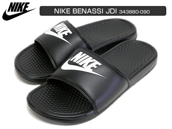 NIKE BENASSI JDI ナイキ ベナッシ ブラック/ホワイト 黒/白 343880-090 サンダル レディース メンズ