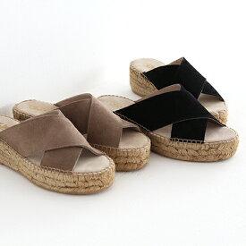 Calzanor カルザノール エスパドリーユ サンダル No.1809 SERRAJE ミュール ウェッジソールサンダル レディース 靴