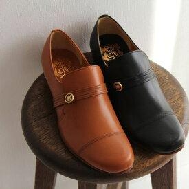 【10%OFFクーポン配布中】chausser ショセ エンブレム付き スリッポンシューズ C-248 レディース 靴