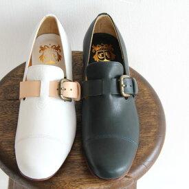 【10%OFFクーポン配布中】chausser ショセ ベルト付き スリッポンシューズ C-2216 レディース 靴