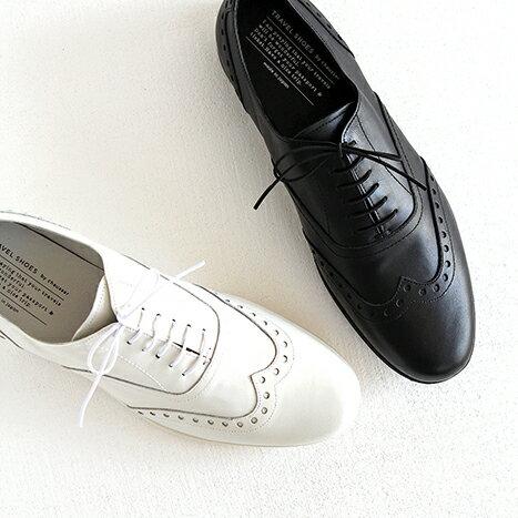 【10%OFFクーポン配布中】TRAVEL SHOES by chausser トラベルシューズバイショセ ウイングチップレースアップシューズ TR-004M メンズ 靴