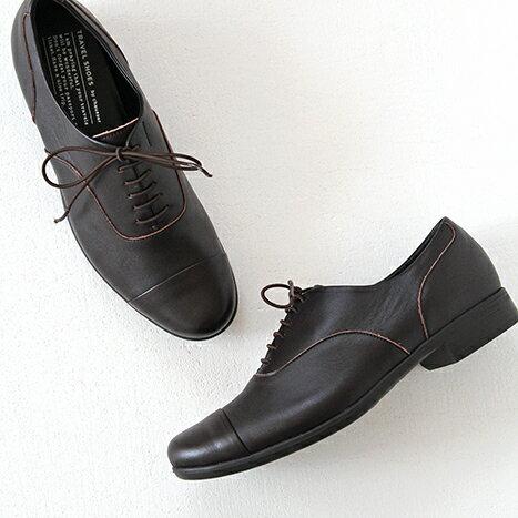 【10%OFFクーポン配布中】TRAVEL SHOES by chausser トラベルシューズバイショセ ストレートチップレースアップシューズ TR-001 ダークブラウン レディース 靴