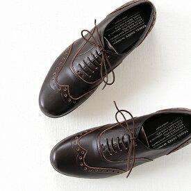 TRAVEL SHOES by chausser トラベルシューズ バイ ショセ ウイングチップ レースアップシューズ TR-004 ダークブラウン レディース 靴