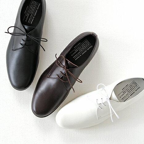 【10%OFFクーポン配布中】TRAVEL SHOES by chausser トラベルシューズバイショセ プレーントゥレースアップシューズ TR-008M メンズ 靴