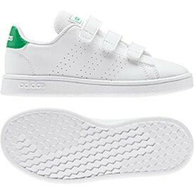 アディダス adidas スニーカー キッズ AJP-EF0223 ADVANCOURT C (EF0223)ランニングホワイト/グリーン/グレーTWO F17 17.0~21.5cm 靴 シューズ