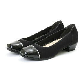 footsuki フットスキ レディース デザインパンプス FS-16490 ブラック 22.5〜24.5cm レディス 靴 シューズ カジュアル