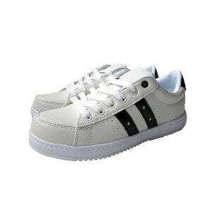 スニーカー レディース 1158 ホワイト/ブラック 22.5〜25cm レディス 通学 作業靴 靴 シューズ