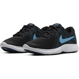 ナイキ NIKE スニーカー レディース NJP-943309-016 ナイキ レボリューション 4 (016)OFF NOIR/LT CURRENT BLUE-BLUE FORCE ジュニア 靴 シューズ H445