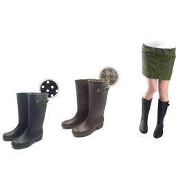 モンフレール Monfrere レインブーツ レディース LB 8121 ロング ブラック ブラウン S〜L 雨天 防水 長靴 靴 シューズ