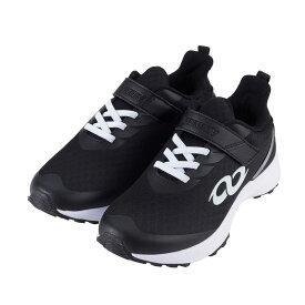 アンリミティブ UNLIMITIV スニーカー キッズ S-LINE S-01-F ブラック センサーユニット付 ジュニア 面ファスナー 日本ランニング協会推奨商品 トレーニング 18〜24.5cm 靴 シューズ
