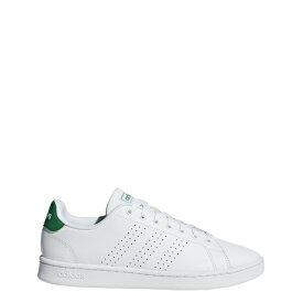 アディダス adidas スニーカー メンズ AJP-F36424 ADVANCOURT LEA M (F36424) ランニングホワイト/ランニングホワイト/グリーン 25cm~27cm メンズ ユニセックス レディス レディース ジュニア ウィメンズ 靴 シューズ