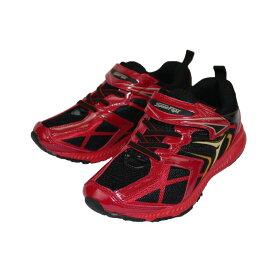 Speed Fight スピードファイト 1114 スニーカー キッズ ブラック/レッド 17〜24.5cm 靴 シューズ