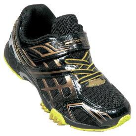 シューティングスター shootingstar スニーカー キッズ 1106 ブラック/ゴールド BLACK/GOLD 19cm~24.5cm 靴 シューズ 最強グリップ