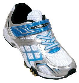 シューティングスター shootingstar スニーカー キッズ 1106 ホワイト/ブルー WHITE/BLUE 19cm~24.5cm 靴 シューズ 最強グリップ