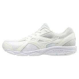MIZUNO ミズノ スニーカー レディース メンズ マキシマイザー22 K1GA200201 ホワイト 22〜28,29,30cm 靴 シューズ ランニング スクール 白 通学靴 白靴 作業靴