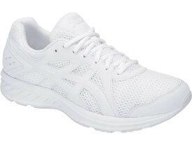 アシックス asics スニーカー メンズ ジョルト2 JOLT 2 WHITE / W 22〜29,30cm 靴 シューズ ランニング 幅広 1011a206-100 スクール 白 通学靴 白靴
