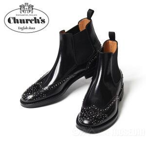 レディース チャーチ Church's ケッツビー KETSBY サイドゴアブーツ 革靴メタルスタッズ付 レディース 靴 革靴 婦人靴