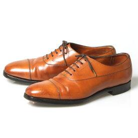 エドワードグリーン EDWARD GREEN 旧ロゴ チェルシー ストレートチップ 内羽根式 UK7D 808ラスト チェスナット カーフ イギリス製 メンズ 靴 革靴 紳士靴 【中古】