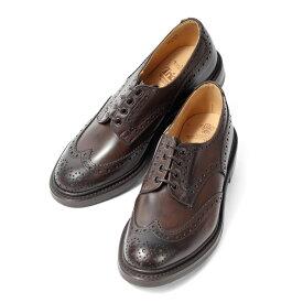 【キャッシュバック対象商品】 トリッカーズ Tricker's カントリーシューズ バートン エスプリ BOURTON ESPR BURNISHED 5633-9 ダークブラウン ダイナイトソール フルブローグ ウイングチップ メンズ 靴 革靴 紳士靴 (pm)