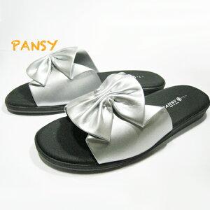 ☆Pansy パンジー6801 サンダル シルバー薄底サンダル かかと約2.5cm 室内履きにもOK!!