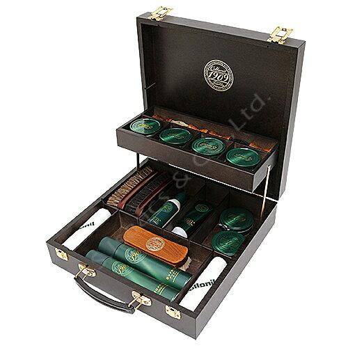 コロニル 1909レザーケアボックスセット Collonil 最上級1909シリーズを箔ロゴ入り木製ボックスに詰めたセット エドワードグリーン、ジョンロブなど高級紳士靴のお手入れに最適です