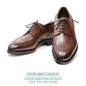 【新品 EG141】エドワードグリーン ドーバー ダークオークアンティーク カーフ Eウィズ 32ラスト UK7(25.5cm) EDWARD GREEN DOVER DARK OAK ANTIQUE CALF E32