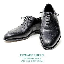 【新品 EG143】エドワードグリーン インバーネス ブラック カーフ Eウィズ 82ラスト UK8.5(27.0cm) EDWARD GREEN INVERNESS BLACK CALF E82