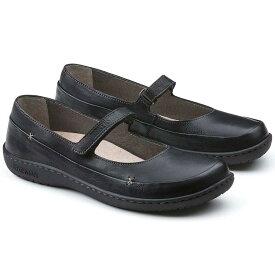 BIRKENSTOCK ビルケンシュトック IONA(イオナ) GS 433063(天然皮革/BLACK)レディースナチュラルな甲ストラップシューズ「靴」